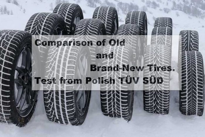 Comparison of Old and Brand-New Tires